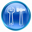 Stock Photo: Tools icon blue.