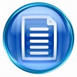 Foto Stock: Document icon blue.