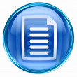 Stock Photo: Document icon blue.