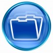 Folder icon blue. — Stock Photo