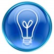 Light Bulb Icon blue. — Stock Photo