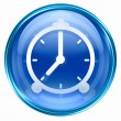 Clock icon blue. — 图库照片