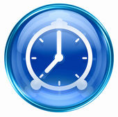 Clock icon blue. — Photo