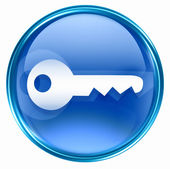 Key icon blue. — Stock Photo