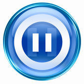 Pause icon blue. — Stock Photo