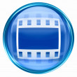 Royalty-Free Stock Photo: Film icon blue, isolated on white background.