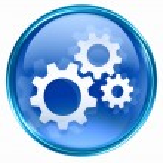 Tools icon blue, isolated on white background — Stock Photo