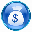 Dollar icon blue. — 图库照片