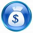 Dollar icon blue. — Stock fotografie