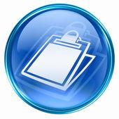 Icona tabella blu, isolato su sfondo bianco. — Foto Stock