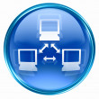 Network icon blue. — Stock Photo