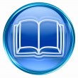 Book icon blue, isolated on white background. — Stok fotoğraf