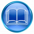 Book icon blue, isolated on white background. — Foto Stock