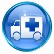 First aid icon blue, isolated on white background. - Stock Photo