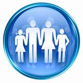 Family icon blue. — Stock Photo