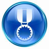 Madalya simgesi mavi. — Stok fotoğraf