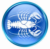 Cancer zodiac button icon, isolated on white background. — Stock Photo