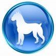 Dog Zodiac icon blue, isolated on white background. - Lizenzfreies Foto