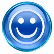 Smiley Face blue, isolated on white background. — Stock Photo