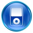 Mp3 player blue, isolated on white background - Lizenzfreies Foto