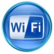 Стоковое фото: WI-FI icon blue, isolated on white background