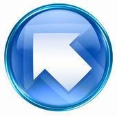 Arrow icon blue, isolated on white background — Stock Photo