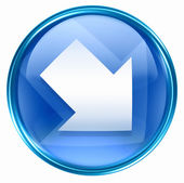Arrow icon blue, isolated on white background — 图库照片