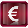 Euro icon dark red, isolated on white background - Imagen vectorial