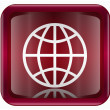 Globe icon dark red, isolated on white background - Imagens vectoriais em stock
