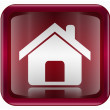 Home icon dark red, isolated on white background - Imagens vectoriais em stock
