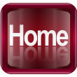 Home icon dark red, isolated on white background - Stockvectorbeeld