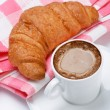 Royalty-Free Stock Photo: Coffee and croissant