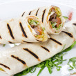 Tortilla Wrap Cut in Half — Stock Photo #3116205