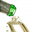 Champagne in the bottle — Stock Photo