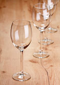 Empty wint glasses on the table — Stock Photo