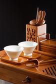 Table for tea ceremony — Stock Photo