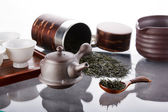 Traditional tea ceremony accessories — Stock Photo