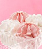 Strawberry and vanilla ice cream — Stock Photo