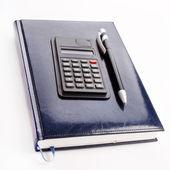 ноутбука и калькулятор — Стоковое фото
