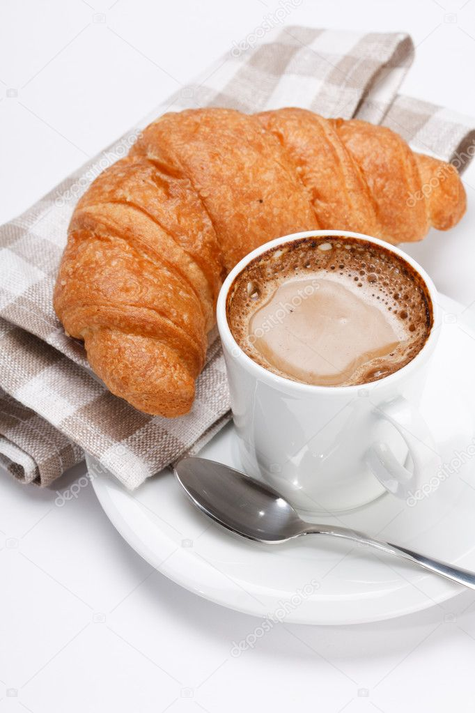 Coffee and croissant  — Stock Photo #3111591
