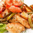 Chicken and roasted vegetable salad — Stock Photo