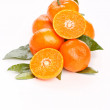 Fresh mandarin fruits — Stock Photo