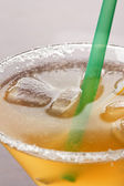 Yellow alcoholic cocktail — Stock Photo