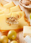 Group of cheeses — Stock Photo