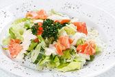 Salad wish fish — Stock Photo
