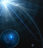Abstract science process in dark — Stock Photo