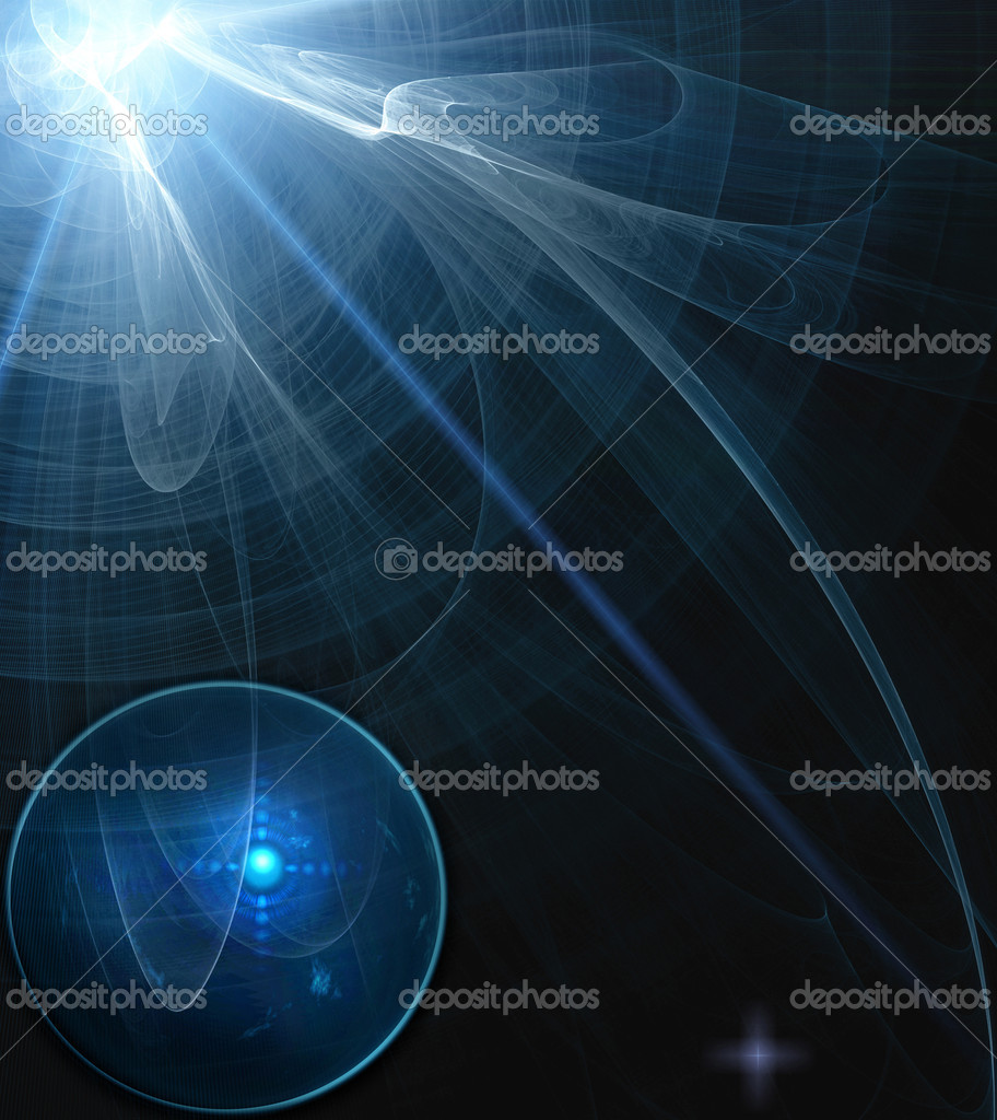 Abstract science process in dark — Stock Photo #2694830