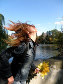 Wind in my hair — Stock Photo