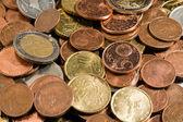 Monedas de oro como fondo — Foto de Stock