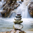 Stok fotoğraf: Pebble stones over waterfall